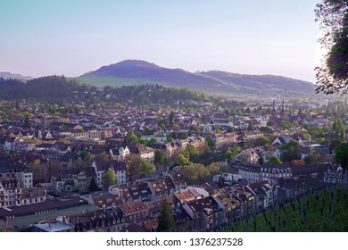 Real Black Forest - City Panorama of Freiburg, Old Town and Wiehre, Germany, Europe