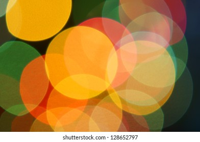 real bokeh background from optical lens.