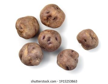 real canarian bonita potatoes from Tenerife isolated