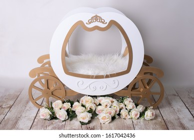 real carriage newborn photography prop