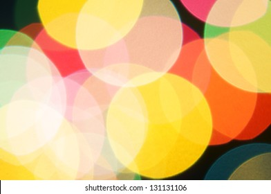real colorful bokeh from optical lens.