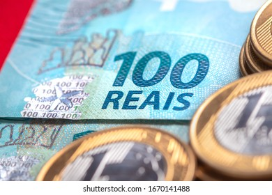 Real Currency. Money from Brazil. Dinheiro, Reais, Brasil. Coins and Banknotes from Brazil.
