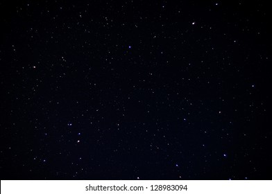 A real dark night sky with plenty of stars