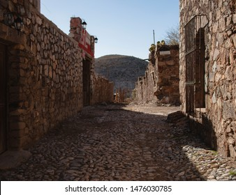Real de Catorce, San Luis Potosi Mexico- Apr 2013 This ghost town was once a thriving silver mining settlement Currently has a full-time population of under 1,000 residents. Huichol shamanists place