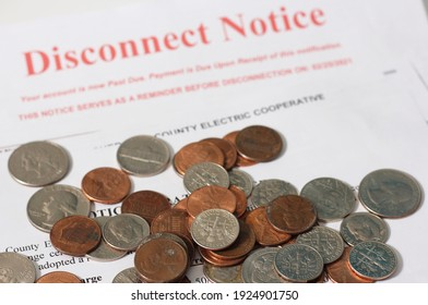 Real Disconnect Notice From a Rural Texas Electric Cooperative Association and Notice of Rate Increase Sent During 2021 Winter Storm Disconnect Date of Feb. 25, 2021