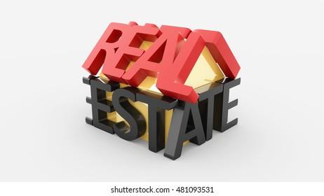 real estate 3D illustration
