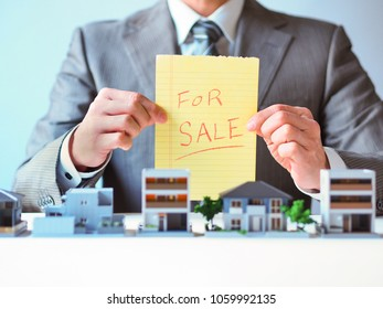 Real estate agent men making attractive proposals