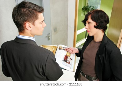 real estate agent showing a flat to a potential client