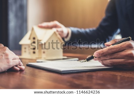 Real Estate Broker Agent Presenting Consult Stock Photo Edit Now