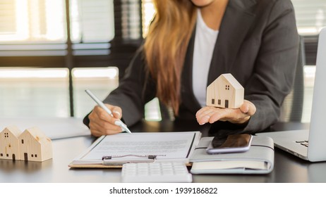 Real estate brokerage contracts for sale and rent with insurance concepts.
