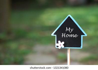 Real estate concept: finding and owning my home in a beautiful area