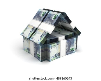 Real Estate Concept South African Rand - 3D Rendering