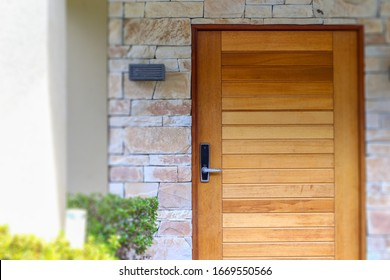 Real estate front door facade