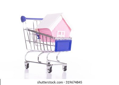 Real estate house with white background.