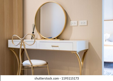 real estate ,interior design dressing table with mirror in the house or home building