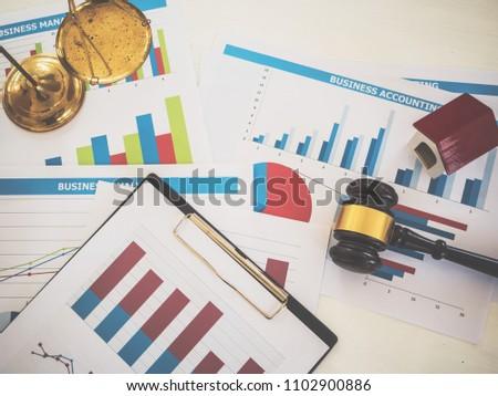 Real Estate Lawyer Legislation House Advisor Stock Photo