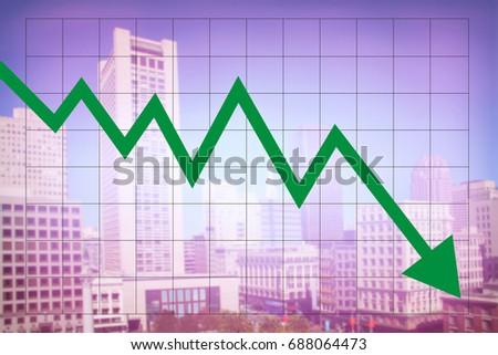 Real Estate Market Economy Decreasing Graph Stock Photo Edit Now