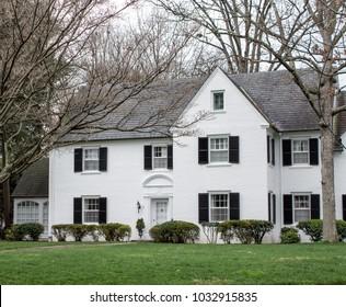 Real Estate Marketing Stock Photos, Beautiful exterior house in rural suburban neighborhood. North Carolina, South Carolina, architecture