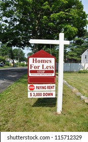 Real Estate For Sale Stop Renting Sign