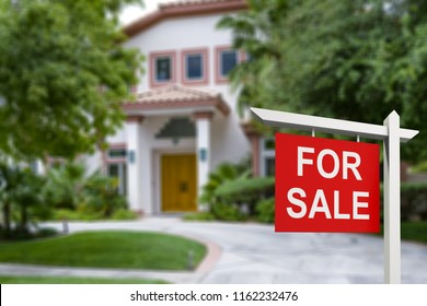 Real estate sign in front of new