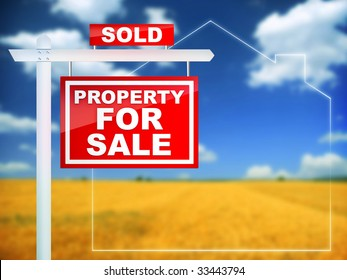 Real Estate Sign Property for sale