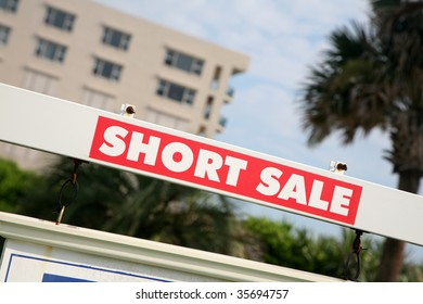REAL ESTATE sign - Short Sale