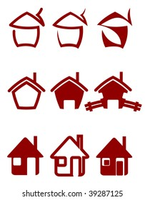 Real estate symbols for design or logo template. Vector version also available