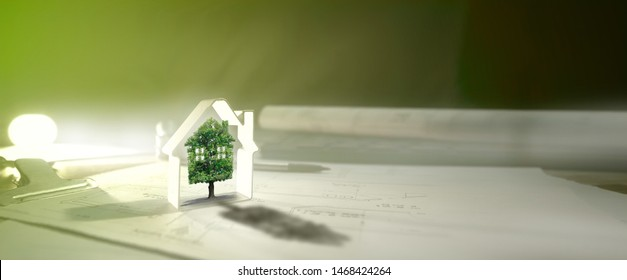 real estate,green house ecology banner