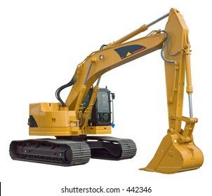 Real Excavator Isolated