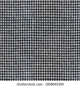 real fabric wool texture houndstooth tweed pattern