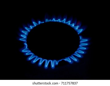 The real flame of a gas burner