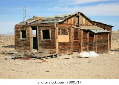 "an real ""Ghost Town"" in Nevada usa with the original buildings and Things from the 1800's mining town"