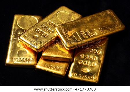 Real Gold Bars Background