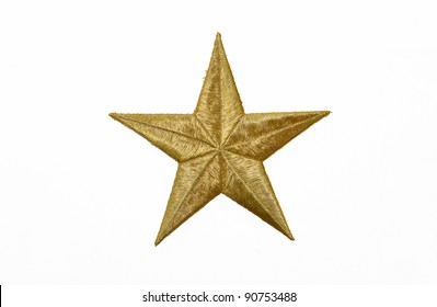 Real Gold Star isolated on white background