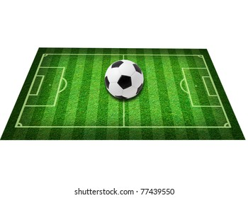 Real green grass soccer field background