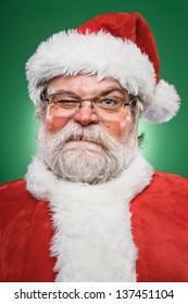 A real grumpy Santa Claus