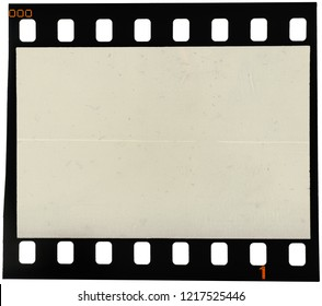 Real high res macro photo of old 35mm film strip with a big scratch over the image area, place your picture here to make it look aged and retro