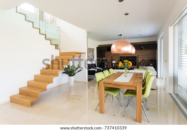 Real Home Interior Dinning Living Room Stock Photo (Edit Now ...