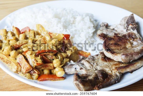 Real Homemade Food Pork Chops Indian Stock Photo Edit Now
