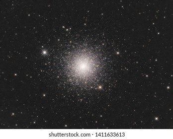 A real image of M3 globular cluster as one of the brightest and beautiful globular cluster in the Northern sky taken through telescope