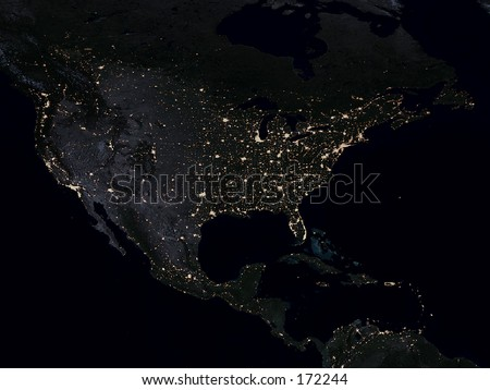 Real Looking Earth Map North America Stock Photo Edit Now 172244