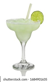 Real Mexican Margarita cocktail. Frozen lime drink with Tequila.