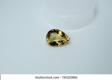 A real/ natural raw yellow/ golden quartz gem stone