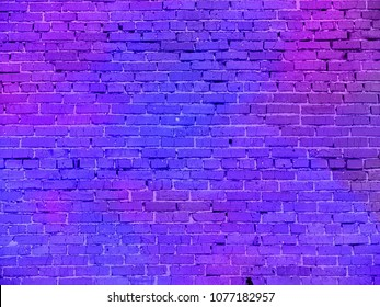 the real neon light on the brick wall