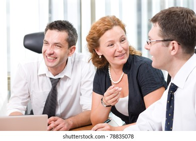 Real office worker on meeting in Hi Res