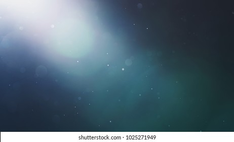 real optical lens flare with some dust floating in the air