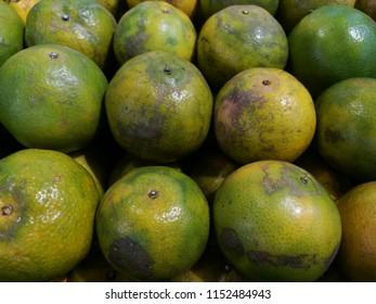real orange skin at the market
