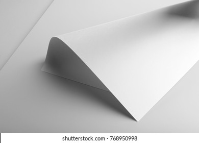 Real photo, blank letterhead, flyer, poster template. Isolated on grey background to place your design.