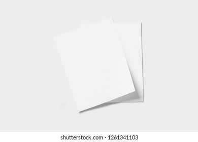 Real photo, brochure mockup template, softcover, isolated on soft grey background to place your design.High resolution photo.