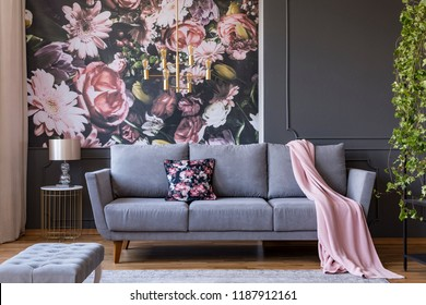 Sofa With Wallpaper Images Stock Photos Vectors Shutterstock